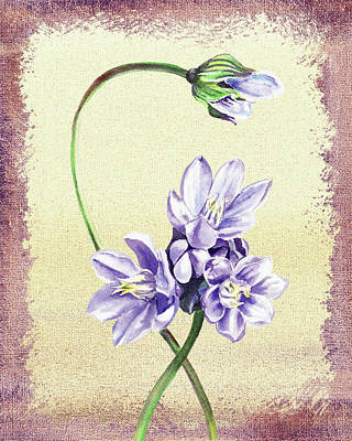 Painting - Gentle Purple Floral Decor by Irina Sztukowski