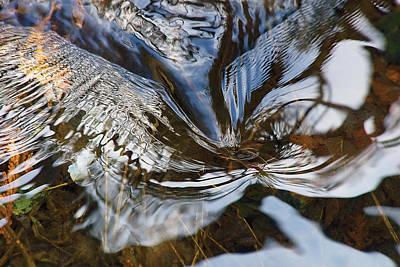 Claude Monet - Gentle ripple swirl in river-1 by Steve Somerville