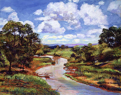 Painting - Gentle River by David Lloyd Glover