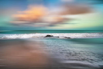 Photograph - Gentle Rolling Surf Dreamscape by Debra and Dave Vanderlaan