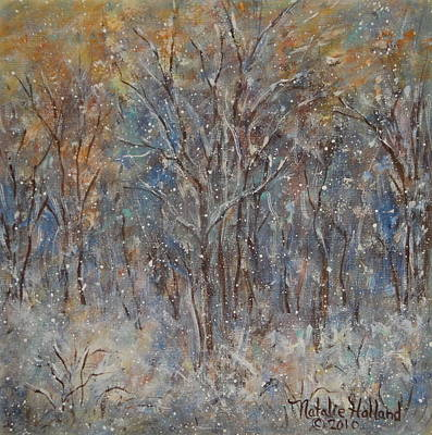 Painting - Gentle Snow by Natalie Holland