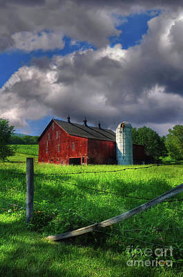 Barn And Silo Photograph - Gentle Summer by Lois Bryan