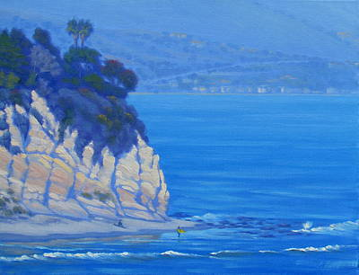 Malibu Painting - Gentle Surf At Point Dume by Elena Roche