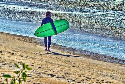 Digital Art - Gentle Surfer by Waterdancer