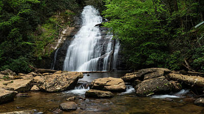 Photograph - Gentle Waterfall North Georgia Mountains by Lawrence S Richardson Jr