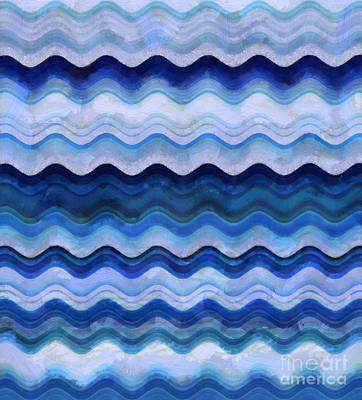 Line Movement Wall Art - Digital Art - Gentle Waves by Krissy Katsimbras