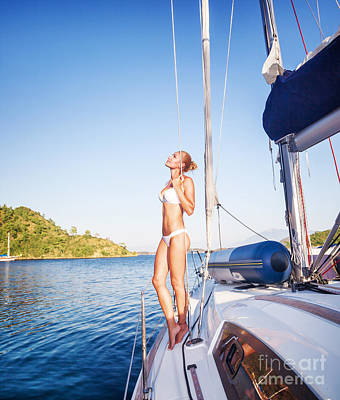 Photograph - Gentle Woman On Sailboat by Anna Om