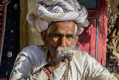 Photograph - Gentleman Of Rajasthan 01 by Werner Padarin