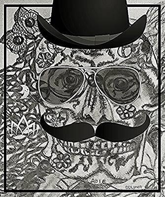 Gentleman Skeleton Skull Art Print