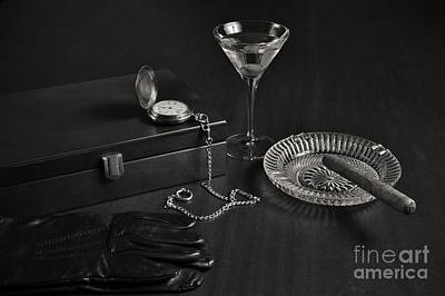 Pocket Watch Photograph - Gentleman's Pause In Monochrome by Angelo DeVal