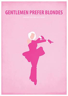 Gentlemen Prefer Blondes Art Print by Fraulein Fisher