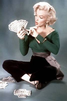 Painting - Gentlemen Prefer Blondes Movie Art Staring Marilyn Monroe by R Muirhead Art