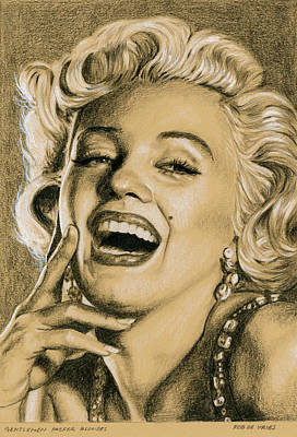 Drawing - Gentlemen Prefer Blondes by Rob De Vries