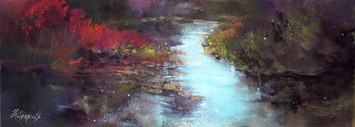 Painting - Gently It Flows by Rae Andrews