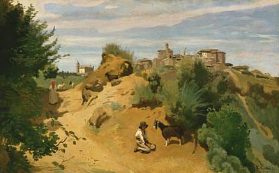 Genzano Art Print by Jean-Baptiste-Camille Corot