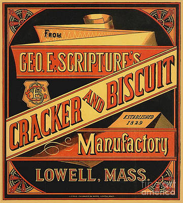 Painting - Geo E Scriptures Cracker And Biscuit Est 1829 by R Muirhead Art
