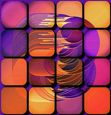 Digital Art - Geo Electric by Susan Maxwell Schmidt