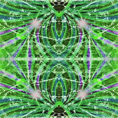 Digital Art - Geo Flash Green by Rachel Hannah