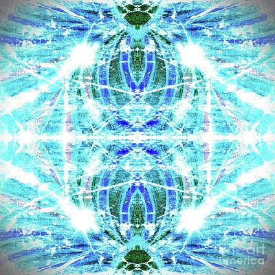 Digital Art - Geo Flash  Light Blue by Rachel Hannah