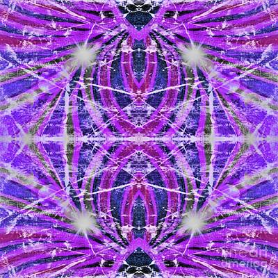 Digital Art - Geo Flash Purple by Rachel Hannah