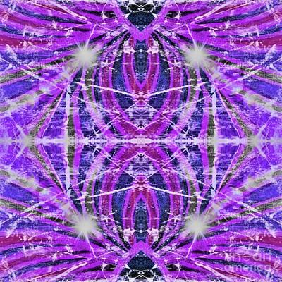 Digital Art - Geo Flash Purple by Rachel Hannah