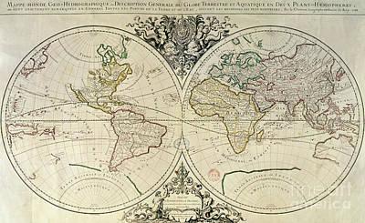Geo-hydrographic Mappamonde Art Print