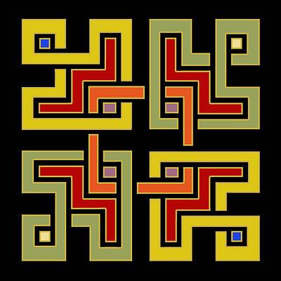Digital Art - Geo Pattern 4 - Chuck Staley by Chuck Staley
