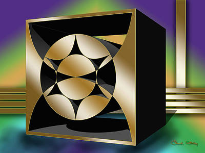 Digital Art - Geo Square 1 3 D by Chuck Staley
