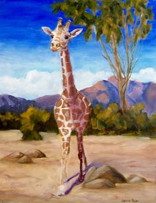 Painting - Geoffrey Giraffe by Jamie Frier