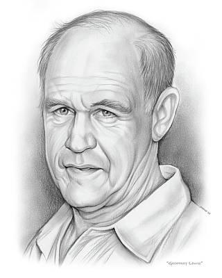 Drawings - Geoffrey Lewis by Greg Joens