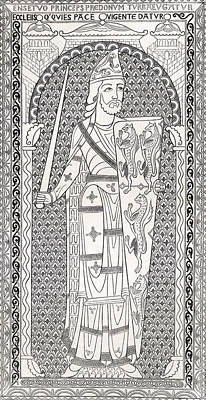 The Maine Drawing - Geoffrey V, First Of The Plantagenets by Vintage Design Pics