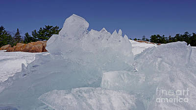 Photograph - Geogian Bay Giant Ice Formation by Charline Xia