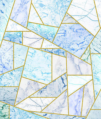 Drawing - Geometria by Uma Gokhale