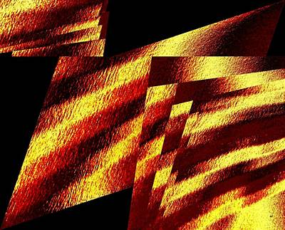 Digital Art - Geometric Abstract 8 by Will Borden