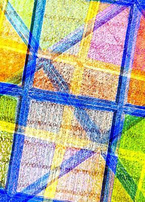 Geometric And Colorful  Art Print