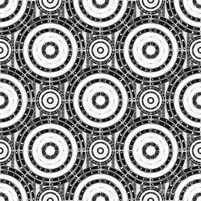 Algorithmic Digital Art - Geometric Black And White by Gaspar Avila