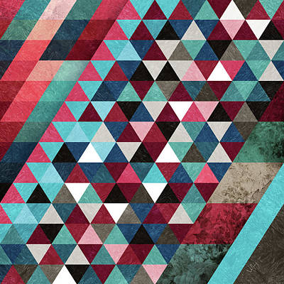 Geometric Candy Art Print by Francisco Valle