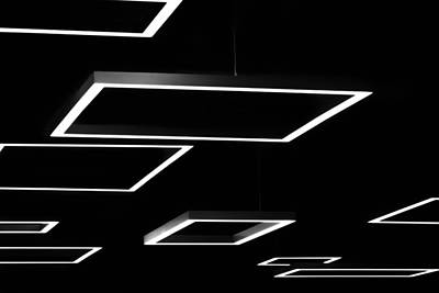Photograph - Geometric Light Fixtures At Waukesha State Bank by Jeanette Fellows
