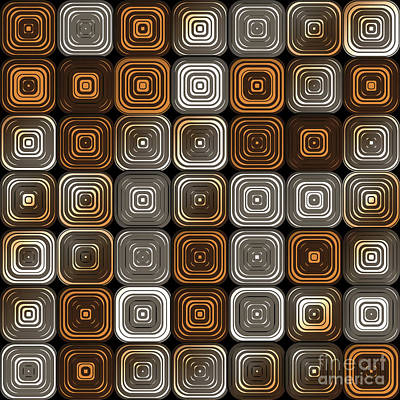 Algorithmic Digital Art - Geometric Chocolate Pattern by Gaspar Avila