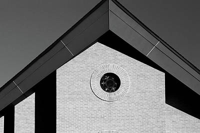 Photograph - Geometric Church Portrait Bw by Mary Bedy