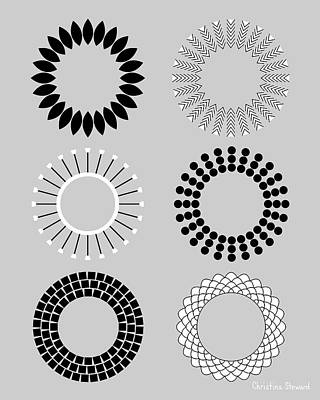 Radial Balance Digital Art - Radial Circles by Christina Steward