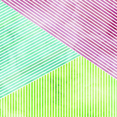 Mixed Media - Geometric Color Study by Kristian Gallagher