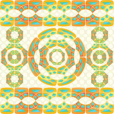 Autumn Abstract Digital Art - Geometric Composition by Gaspar Avila