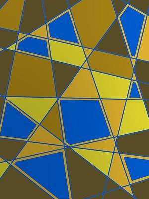 Beauty Digital Art - Geometric Composition With Lines by Alberto RuiZ
