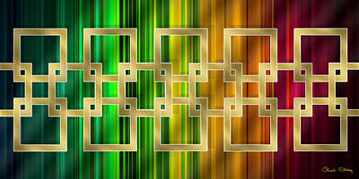 Digital Art - Geometric Design Horizontal by Chuck Staley