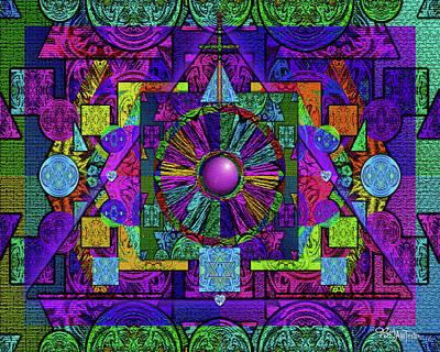Digital Art - Geometric Faith #005 by Barbara Tristan