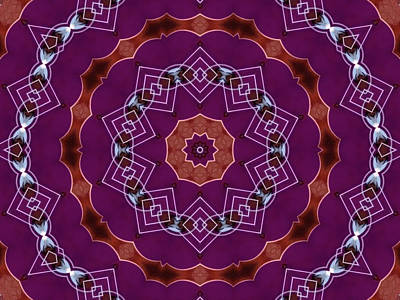 Jodi Diliberto Royalty-Free and Rights-Managed Images - Geometric Flower Mandala by Jodi DiLiberto