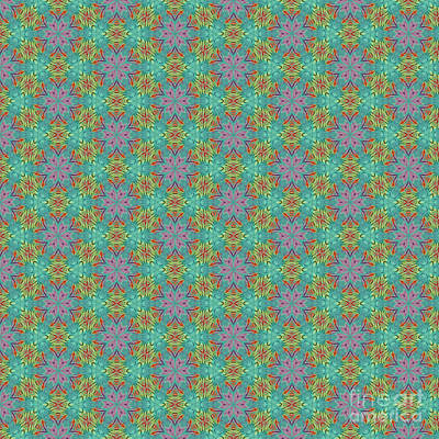 Digital Art - Geometric Flower Pattern 2 by Alisha at AlishaDawnCreations