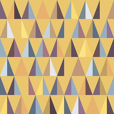 Geometric Forest Summer Art Print by Daniel Perfeito