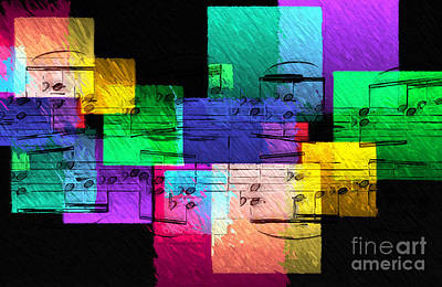 Digital Art - Geometric Gigue 4 by Lon Chaffin